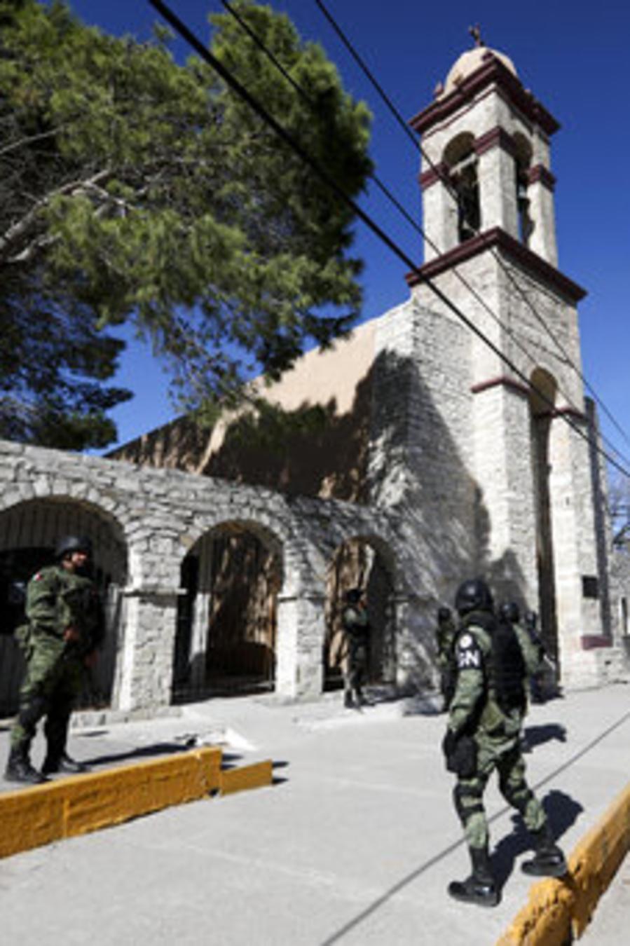 Foto de archivo de agentes de seguridad en Coahuila