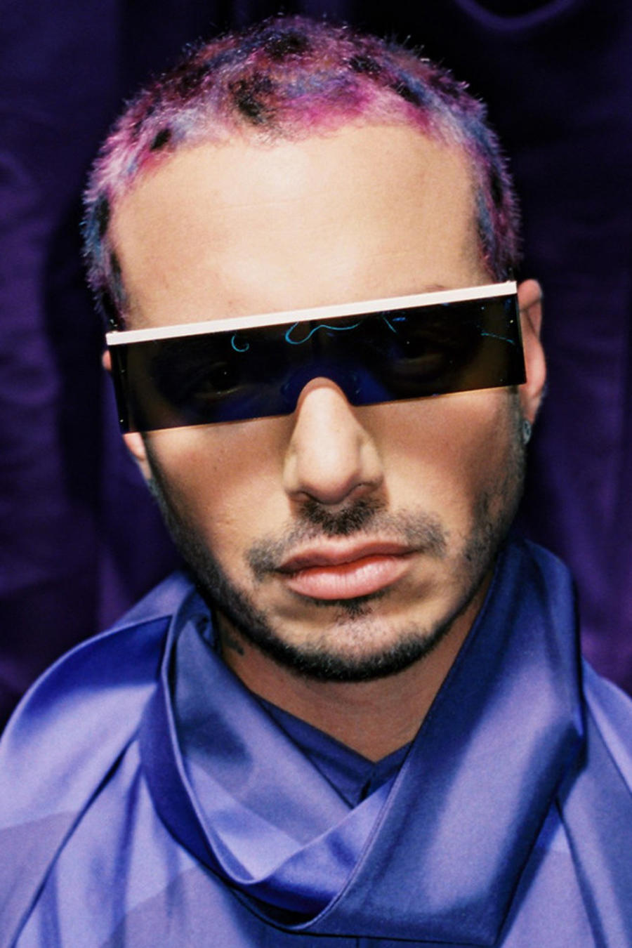 "J Balvin promo photo for ""Morado"""