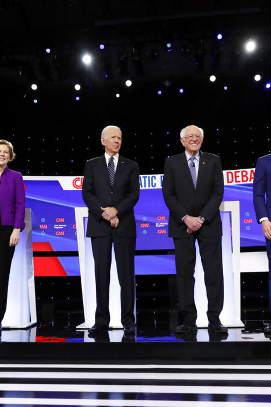 Amy Klobuchar,Pete Buttigieg,Bernie Sanders,Joe Biden,Elizabeth Warren,Tom Steyer