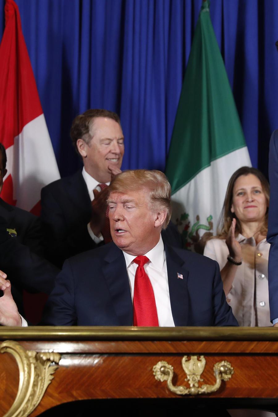 Una imagen de archivo de Trump, Peña Nieto y Trudeau a finales de 2018 en Buenos Aires, Argentina.