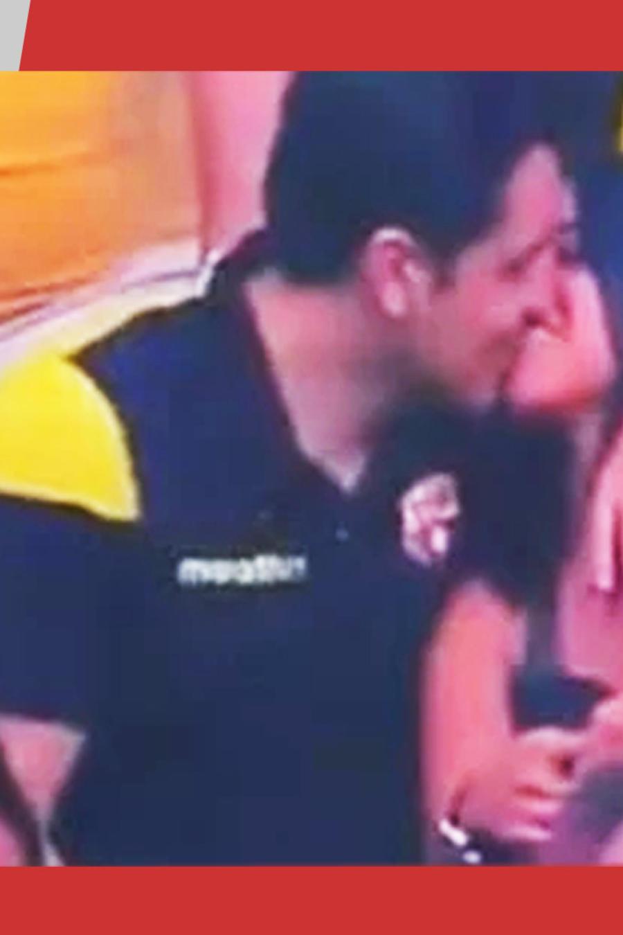 Kiss cam capta infiel