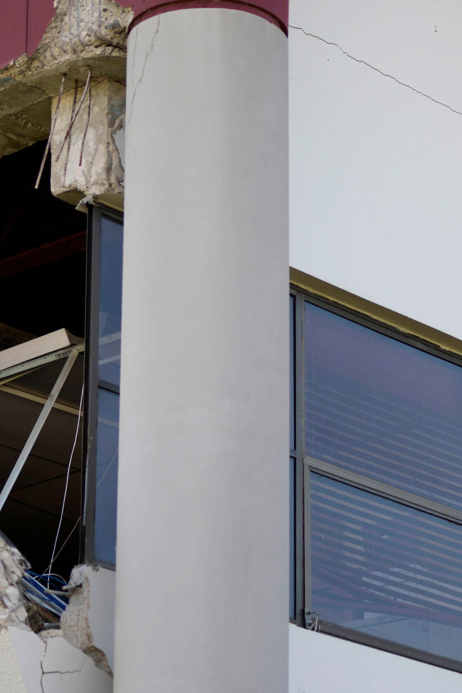 Un edificio dañado por terremoto de 6.4 en Puerto Rico el 7 de enero.