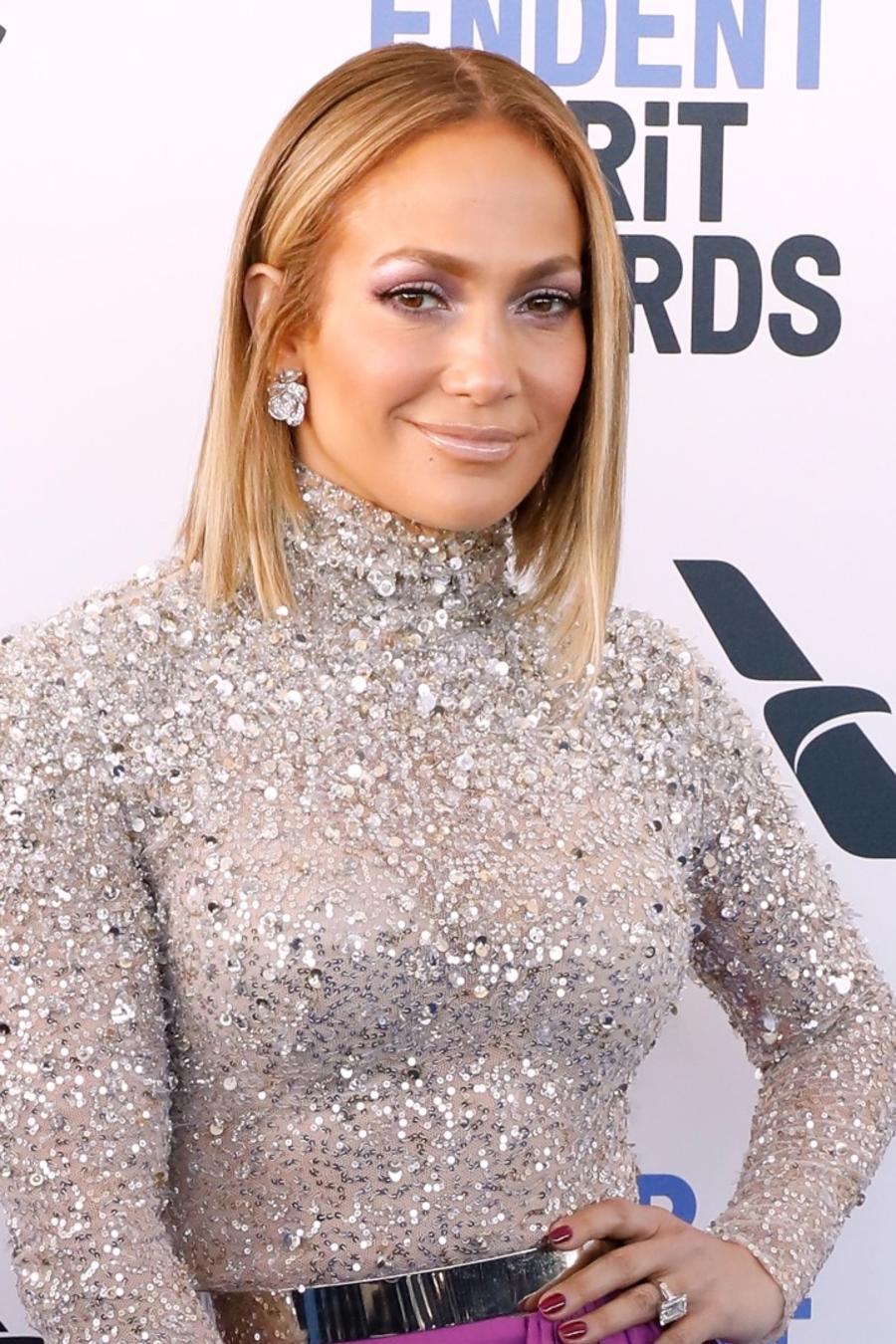 Jennifer Lopez smiling at film event