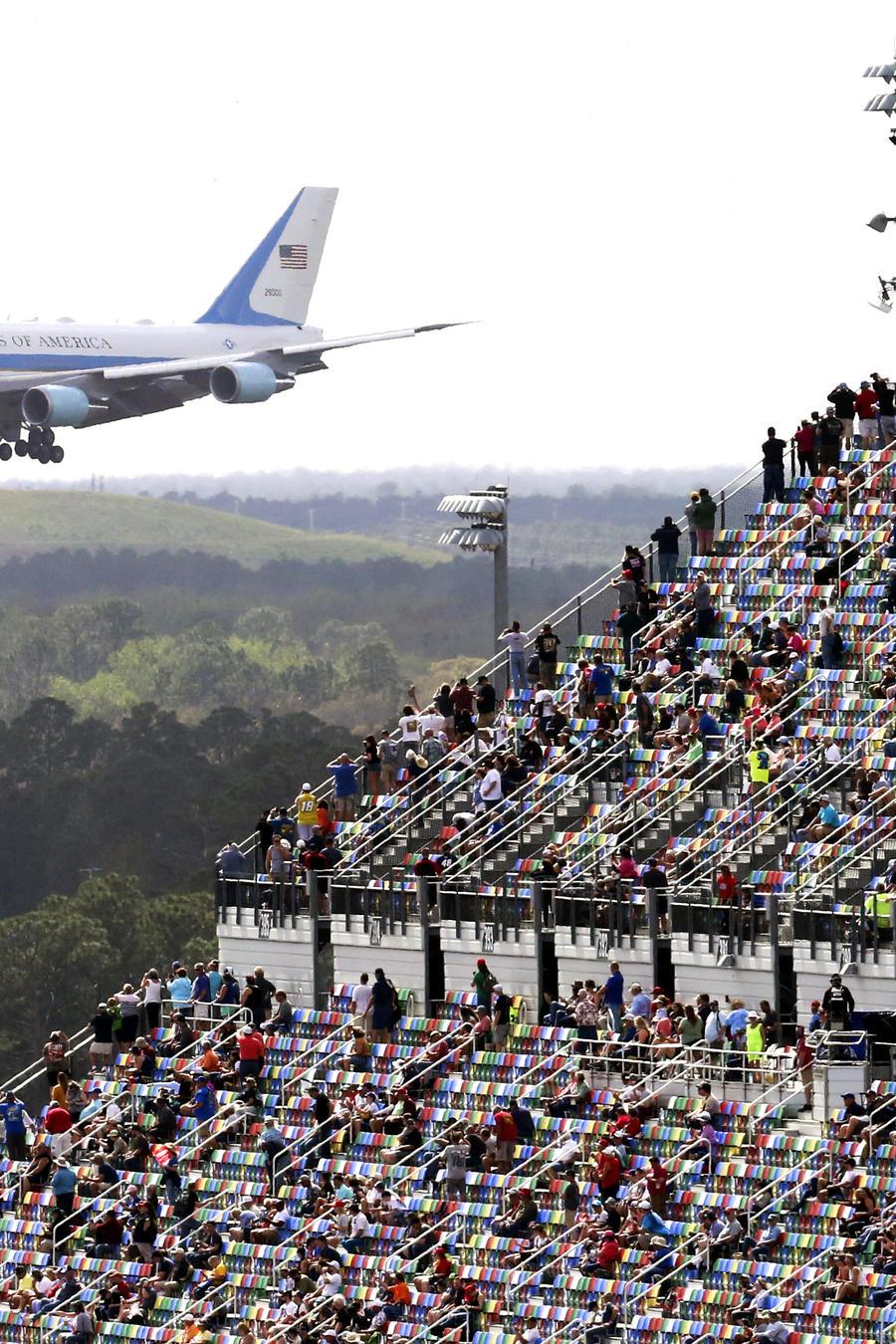 Air Force One en el Daytona International Speedway