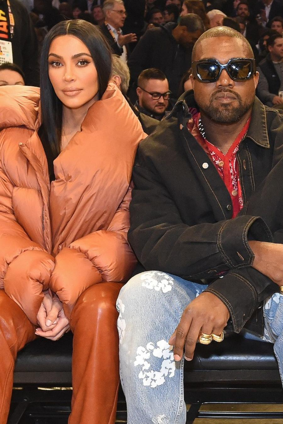 Kim Kardashian y Kanye West en el All-Stars weekend de Chicago