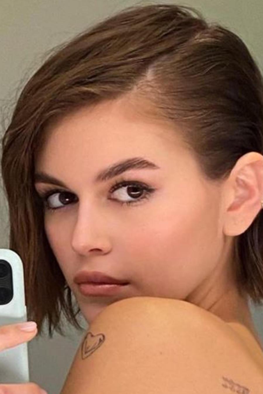 Kaia Gerber selfie