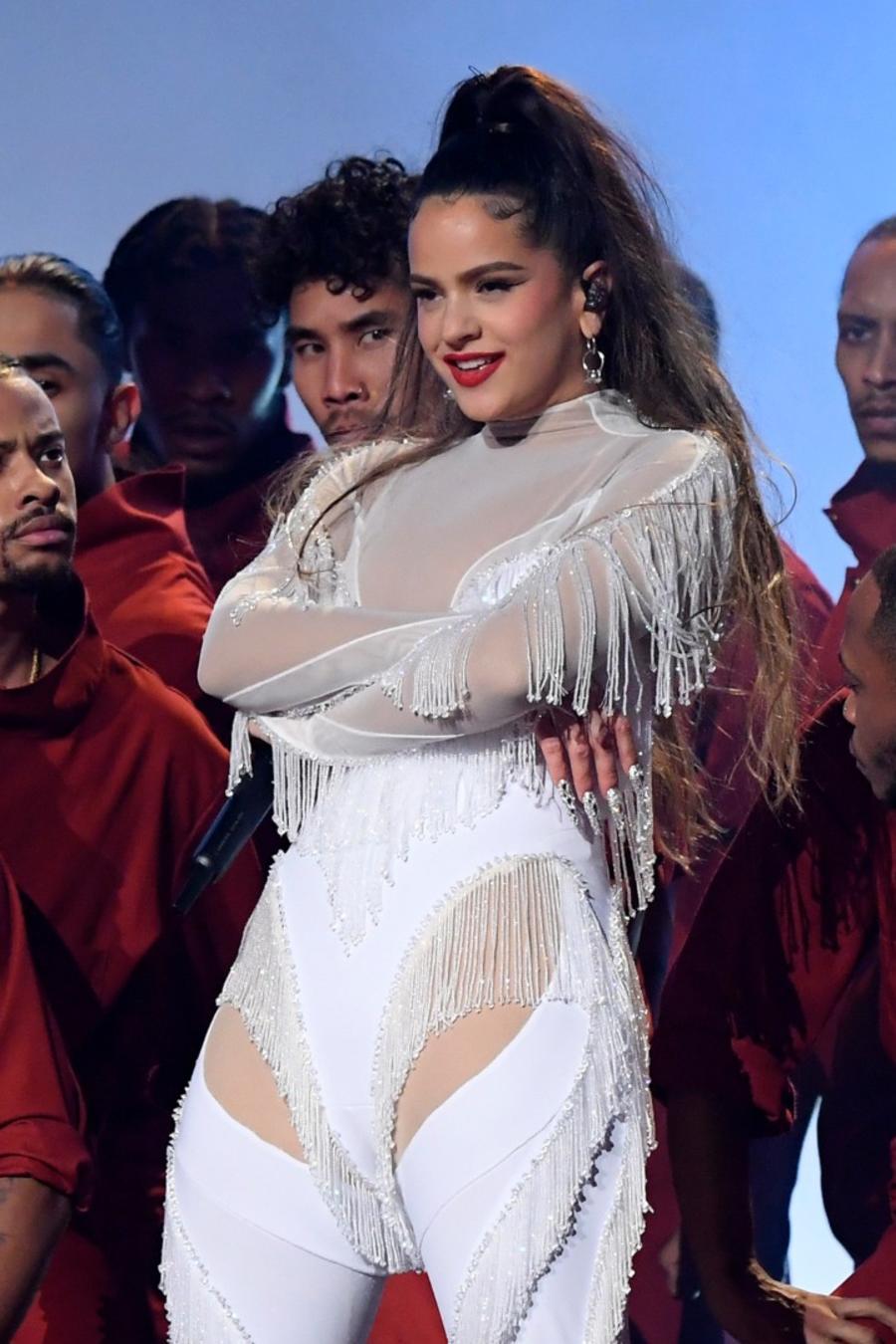 Rosalia performing live at Grammys