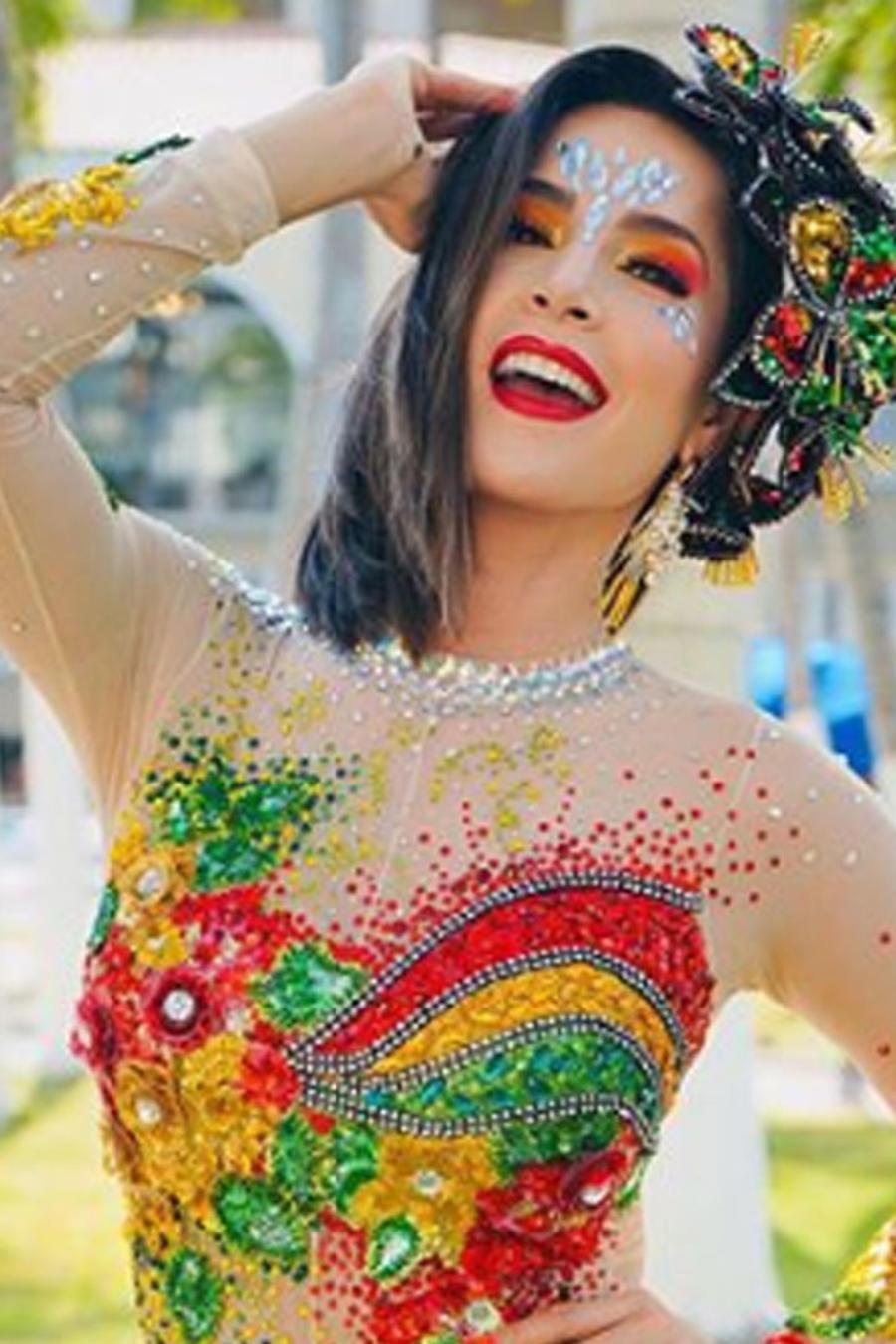 Carmen Villalobos en el Carnaval de Barranquilla