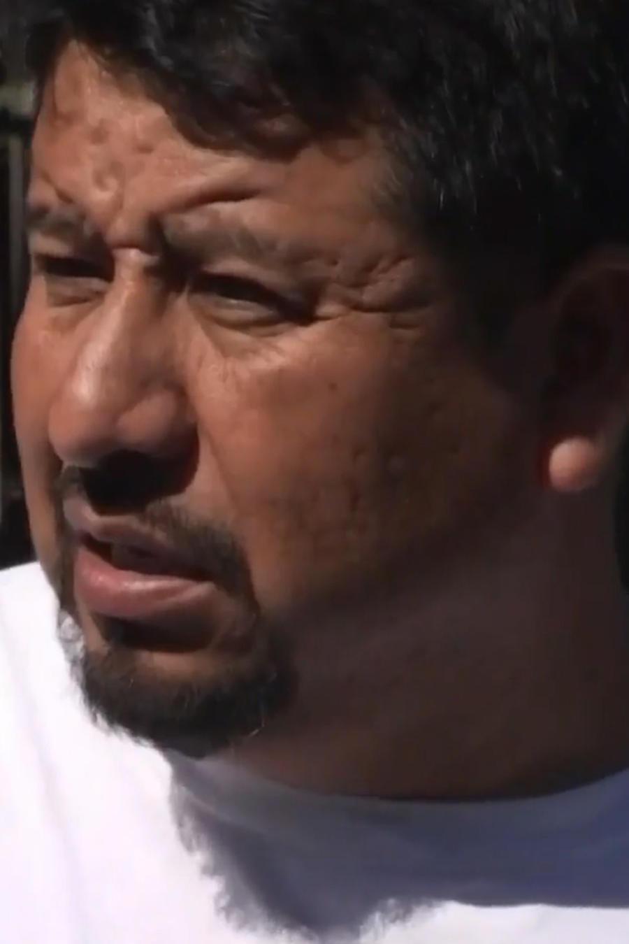Octavio Martínez, inmigrante mexicano que se encerró en su camioneta para evitar ser arrestado por ICE.
