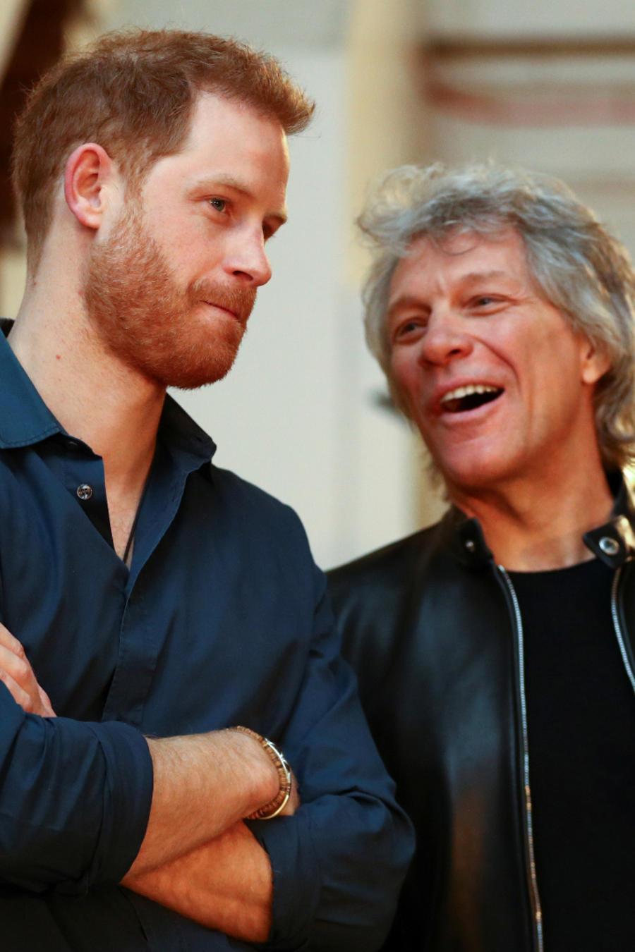 Príncipe Harry y Bon Jovi en Abbey Roads Studios