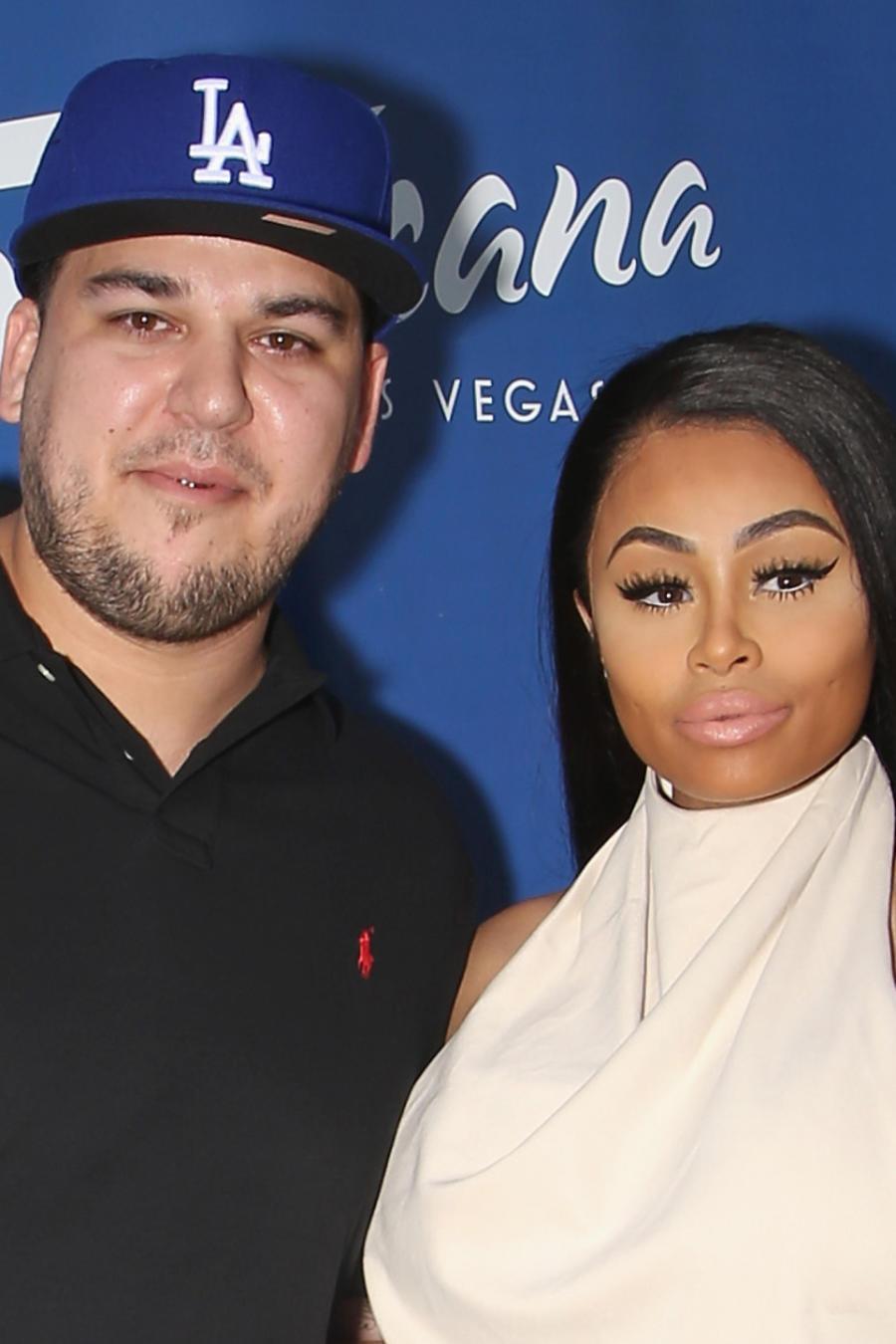 Rob Kardashian y Blac Chyna en Sky Beach Club en Las Vegas 2016