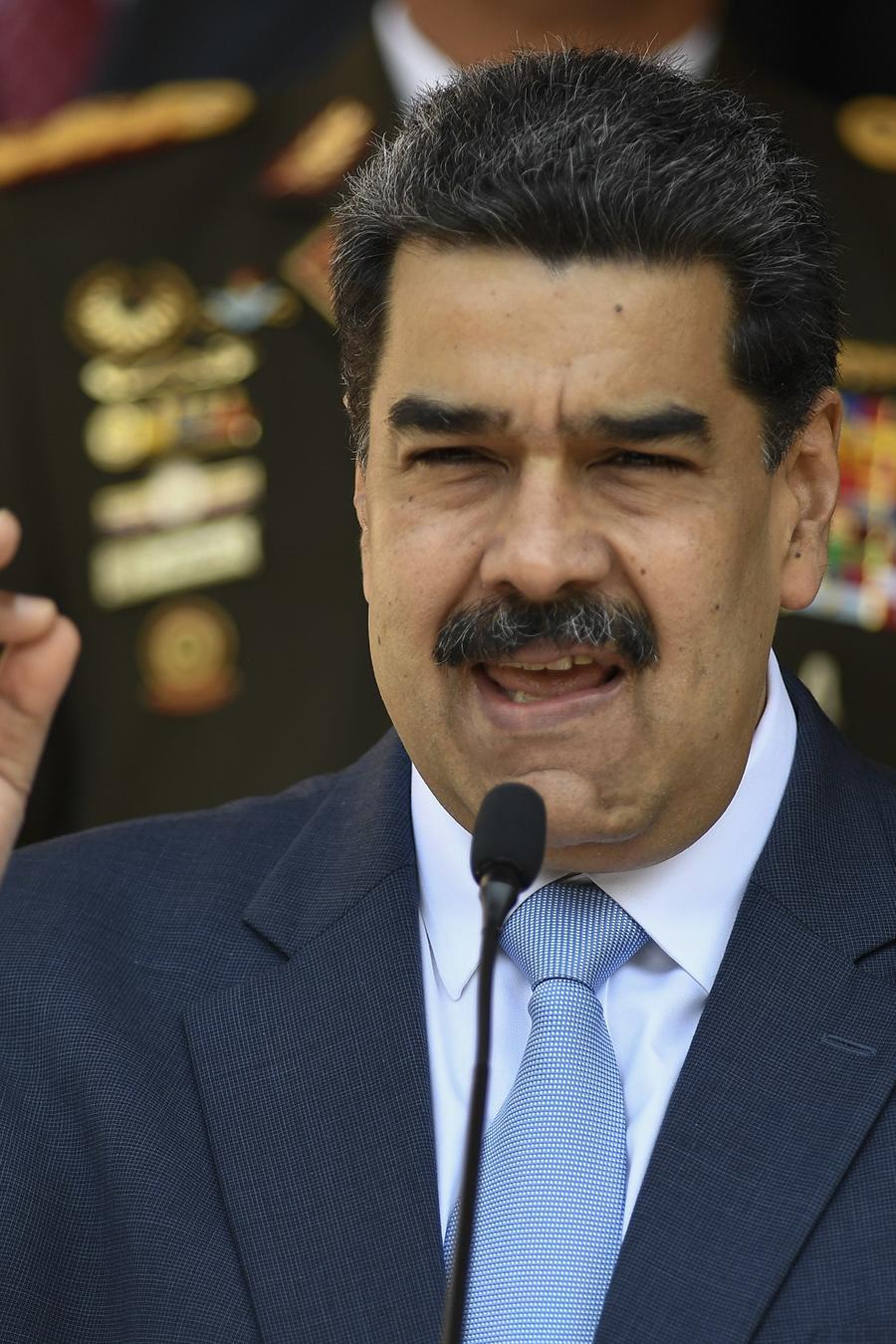 El presidente venezolano Nicolás Maduro durante una conferencia de prensa en el Palacio de Miraflores, el jueves 12 de marzo de 2020.