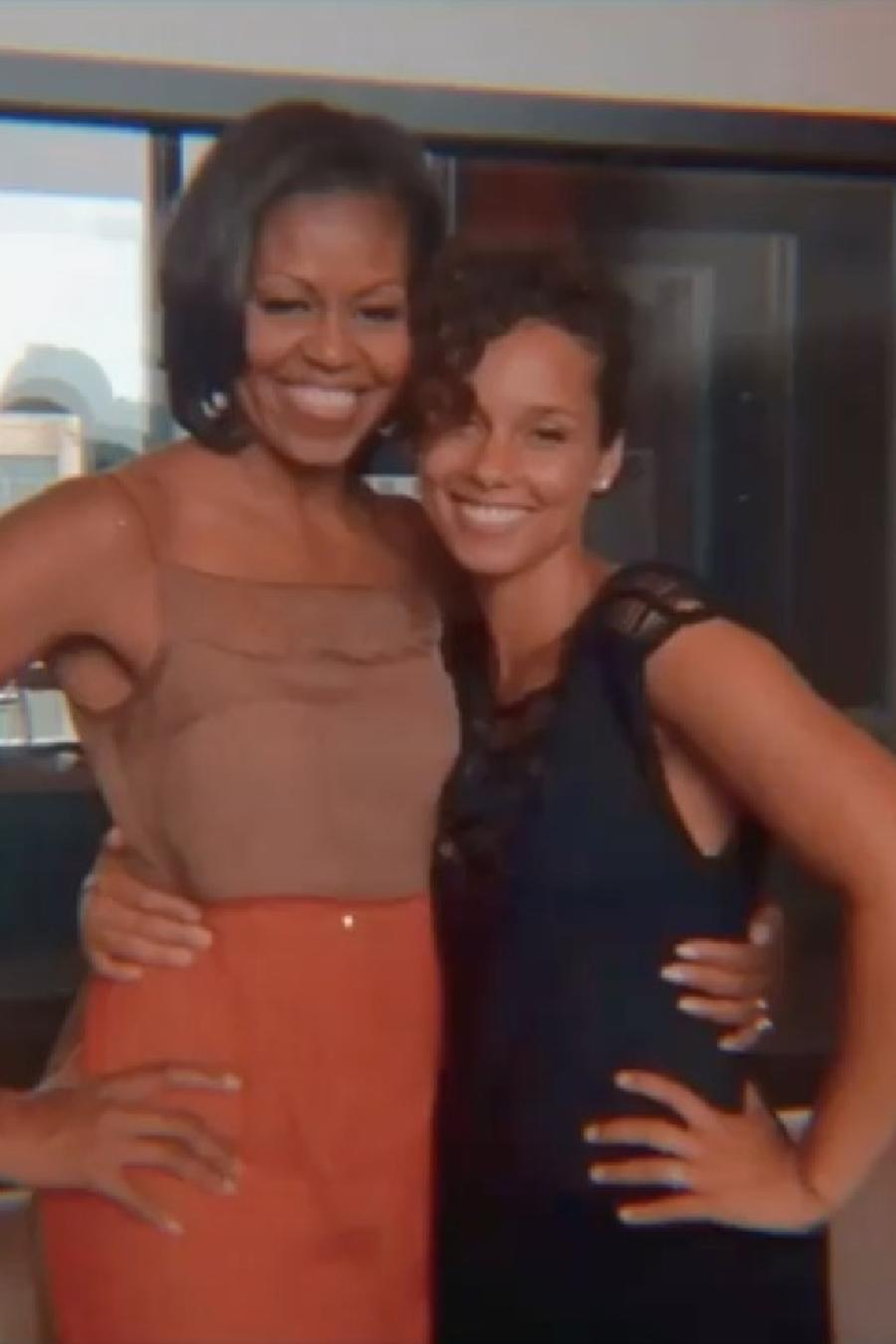 Alicia Keys y Michelle Obama