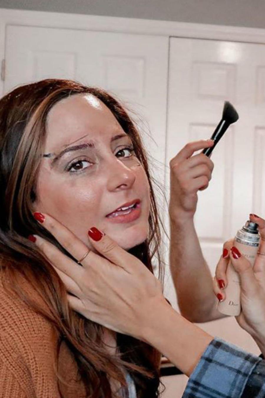 Maquillaje con los ojos cerrados