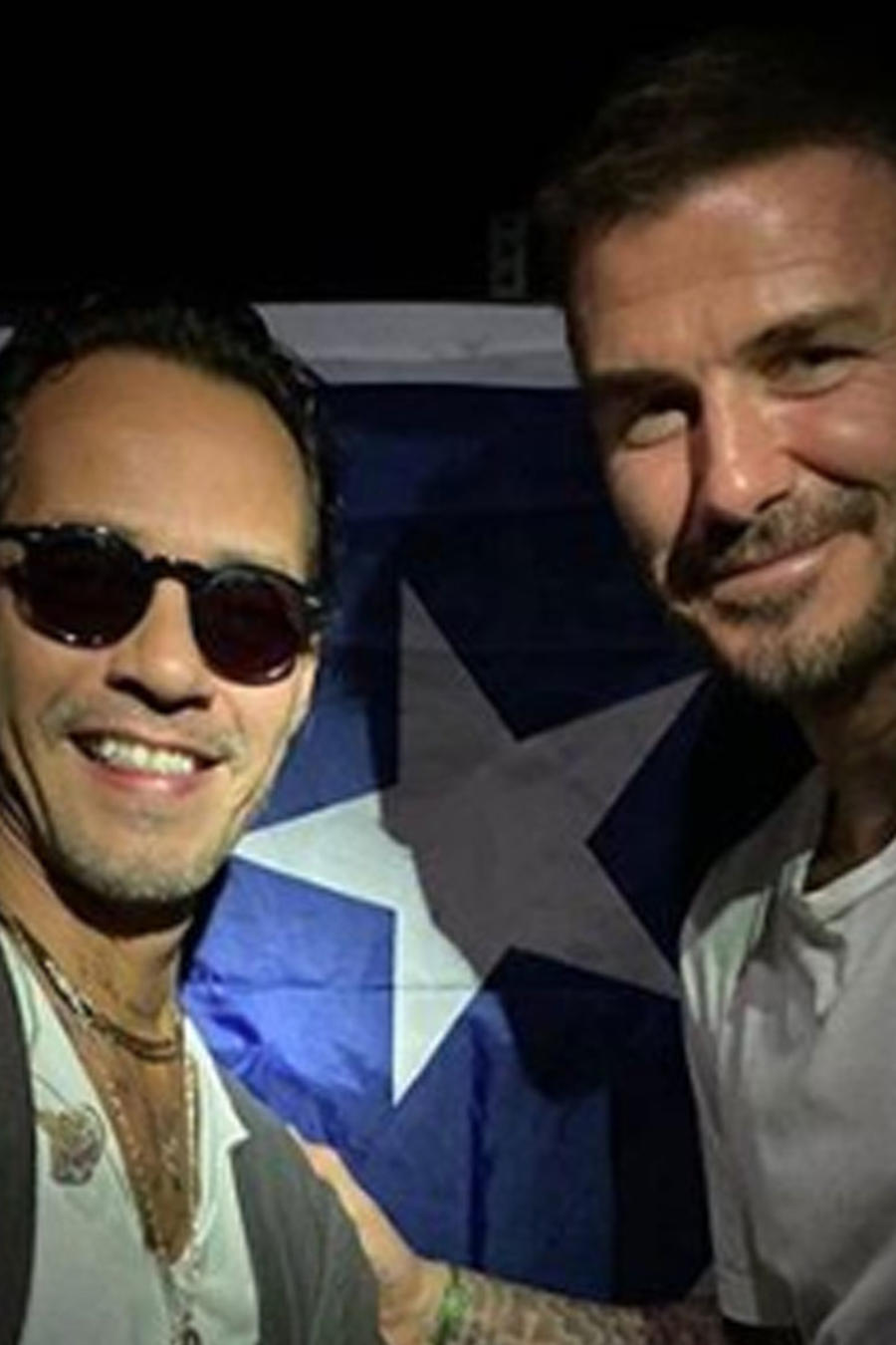 Marc Anthony y David Beckham