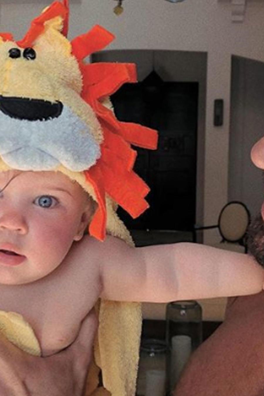 Ricky Martin con su hija