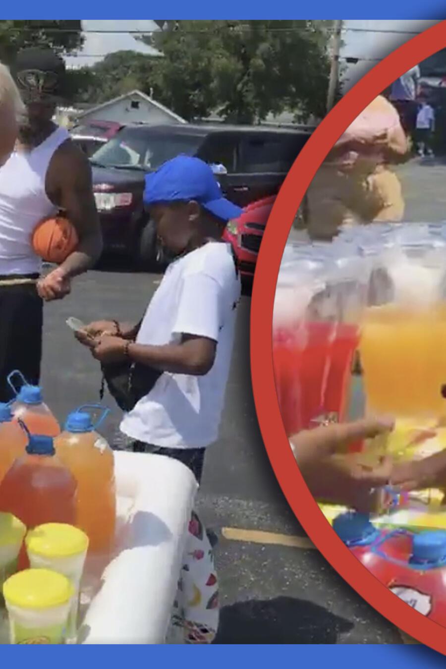policía niños limonada