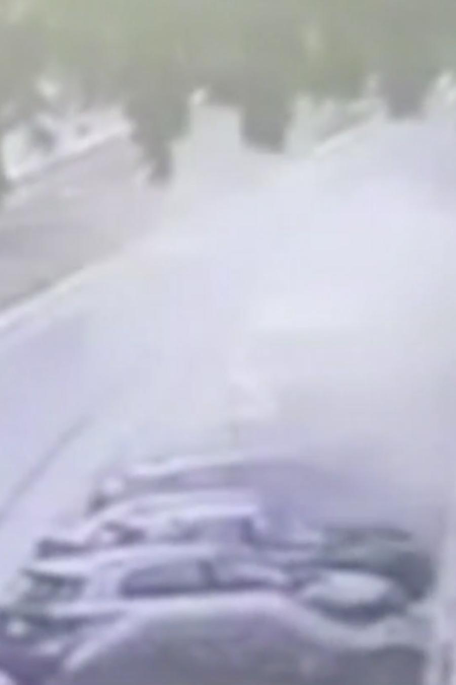 Motociclista explosión