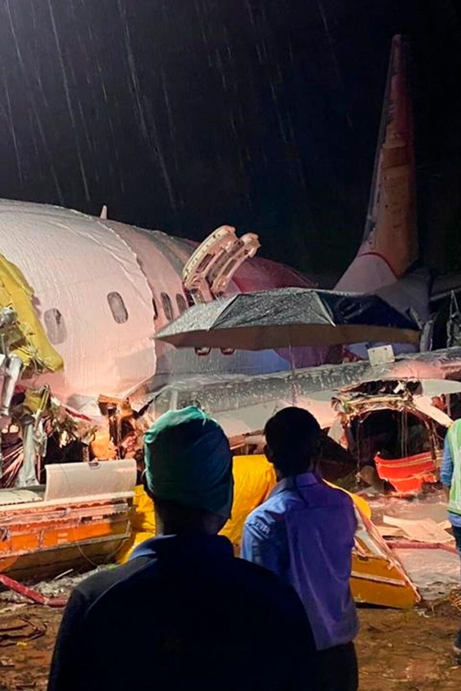 Accidente de avión en la India este viernes.
