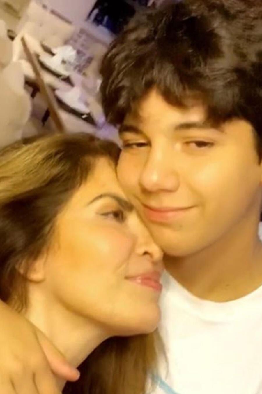 Gloria Trevi con su hijo Miguel Armando