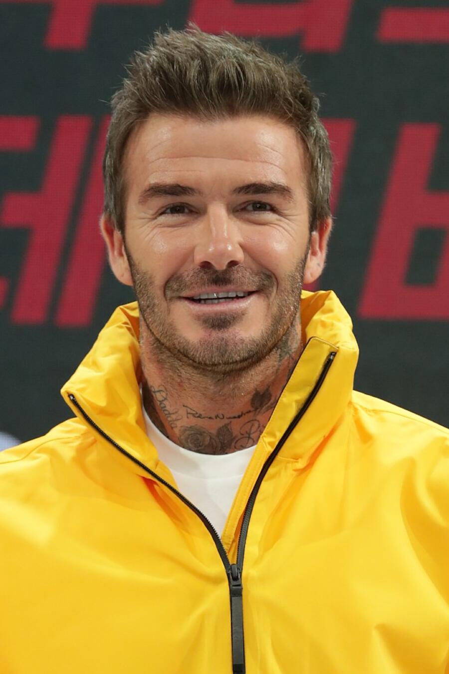 David Beckham en un evento de Adidas 2019
