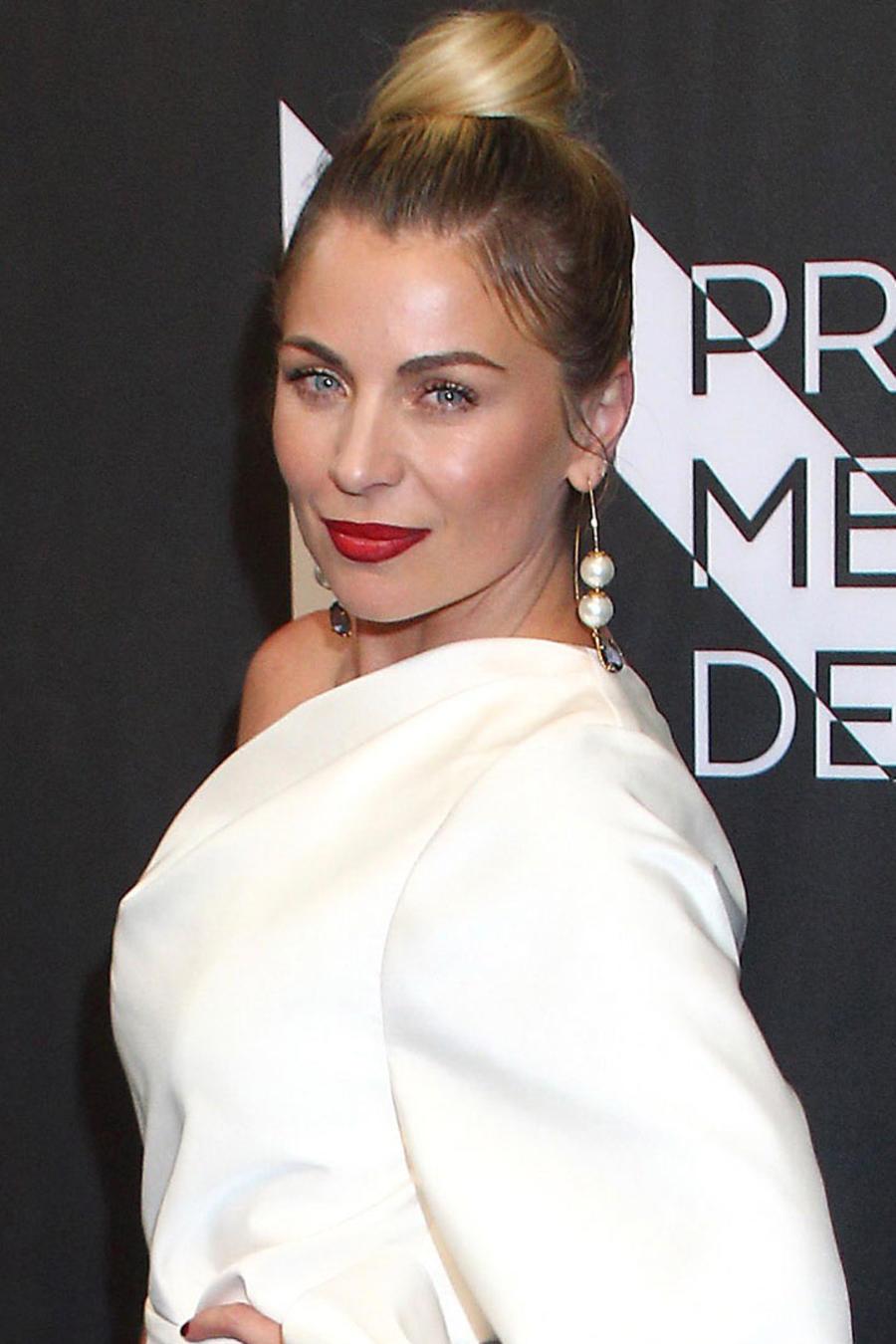 Ludwika Paleta en la alfombra roja Premios Metropolitanos de Teatro, México, 2019