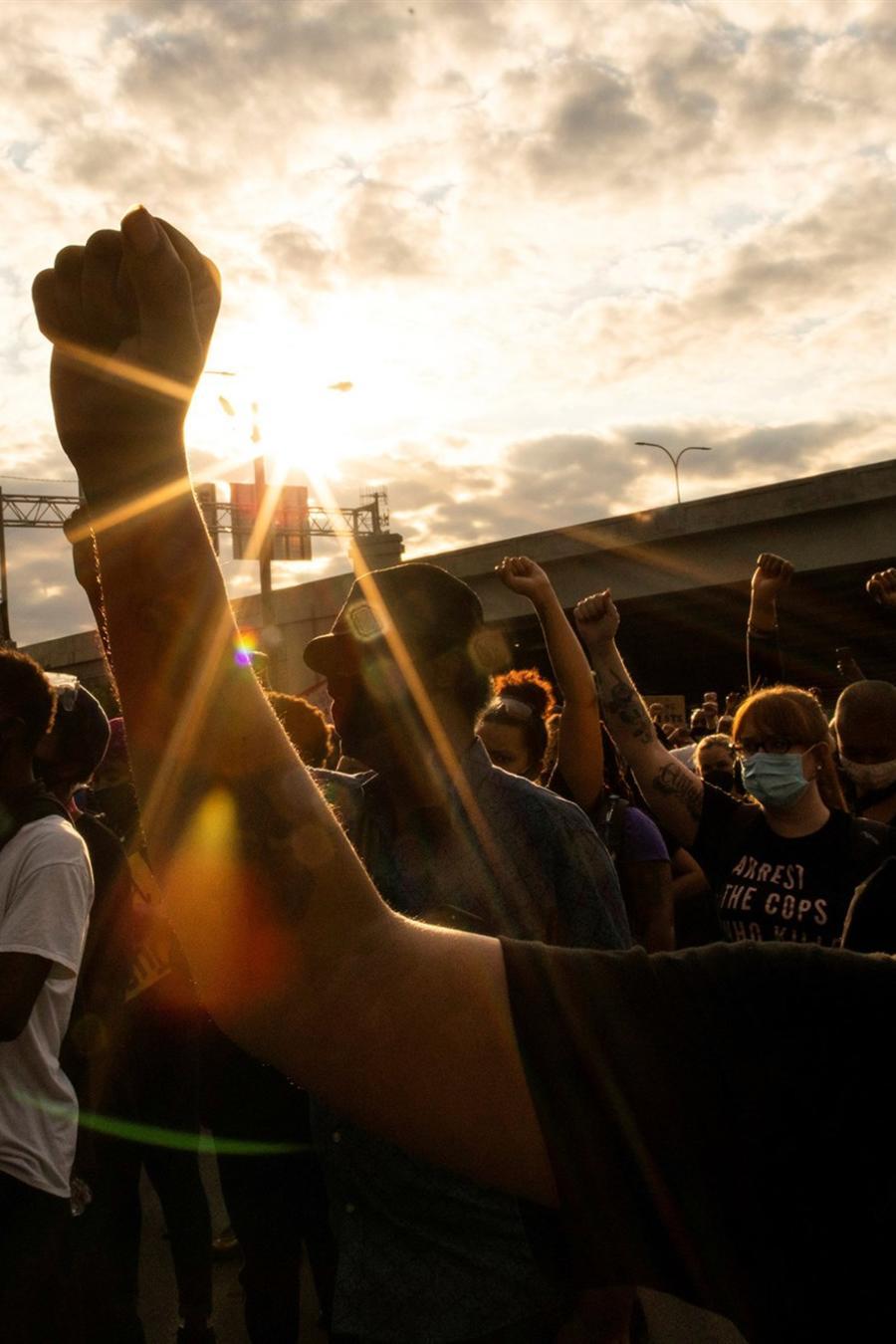 Protestas en Louisville, Kentucky.