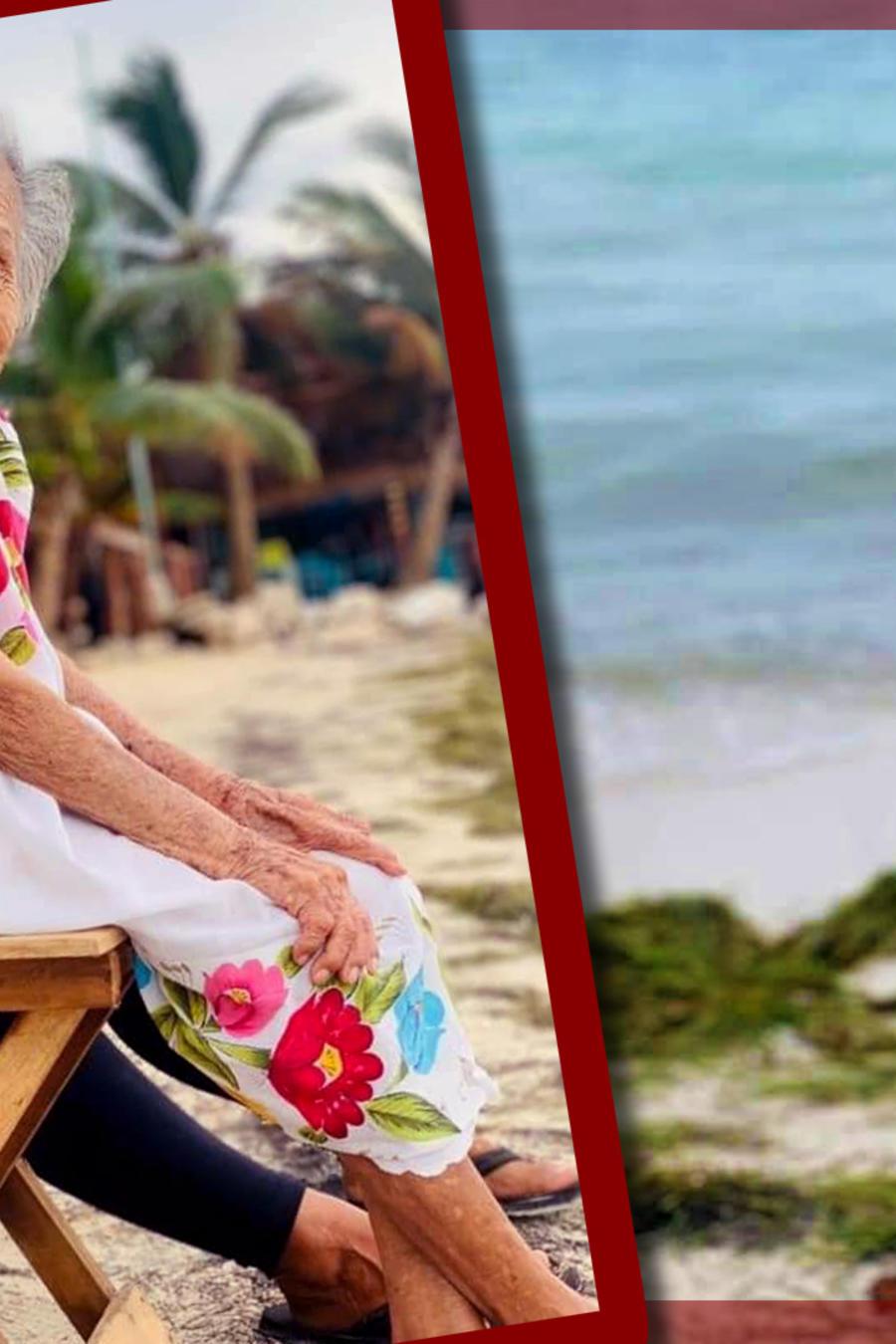 Abuelita de 97 años conoce el mar por primera vez