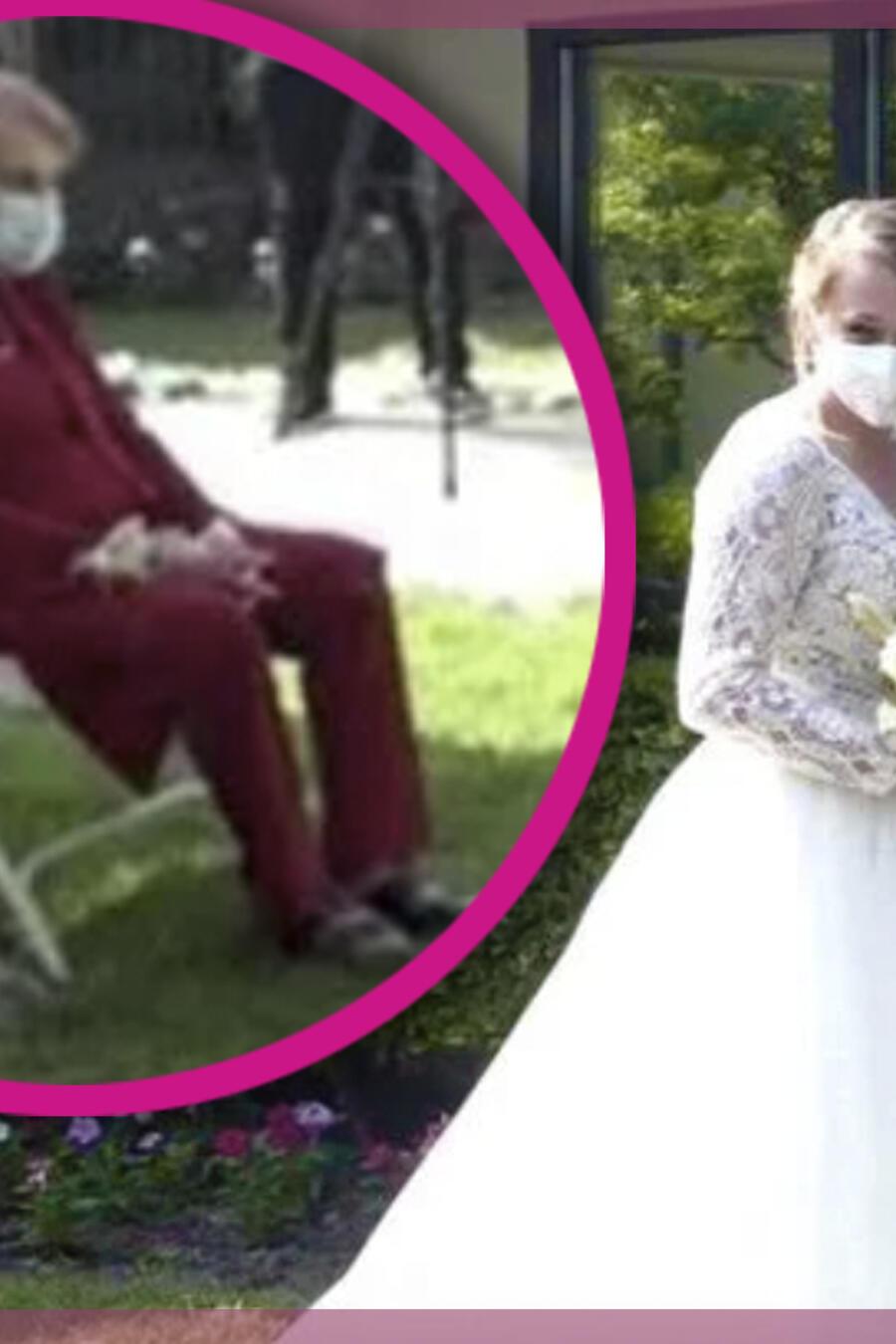 Abuelita logra sistir a la boda de su nieta