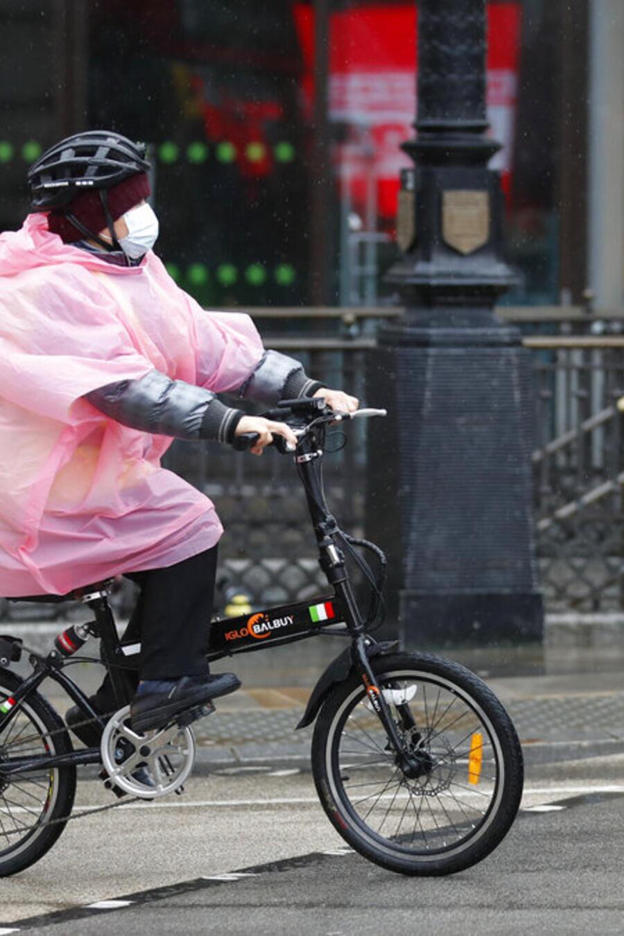 Ciclista en Londres