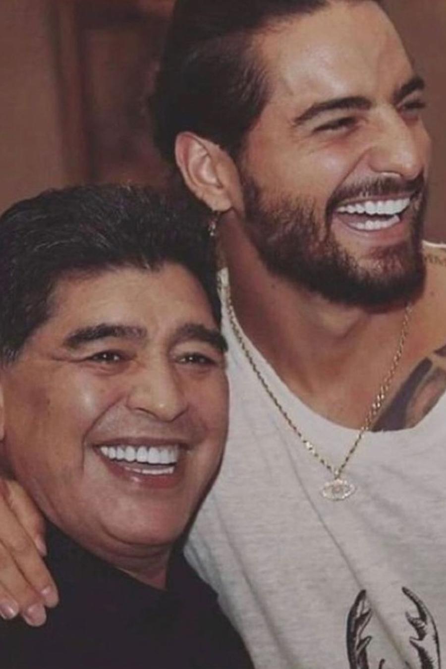 Maluma, Maradona y Alberto Fernández