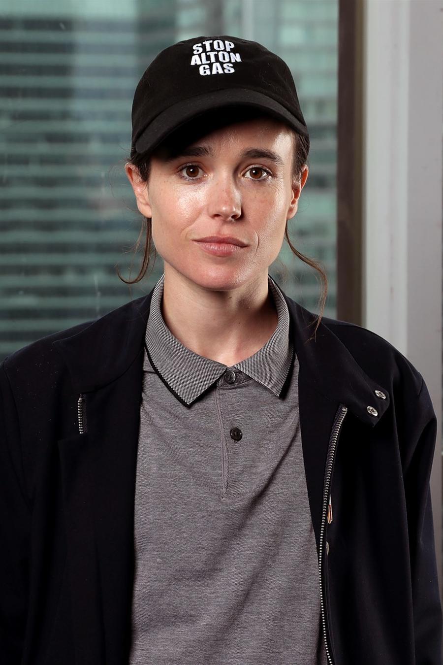 Elliot Page, previamente conocido como Ellen Page.