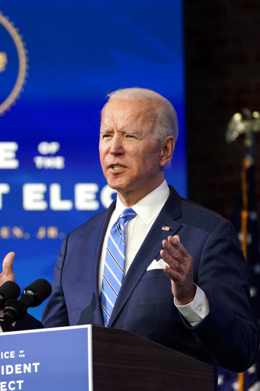 El presidente electo, Joe Biden, habla sobre la pandemia del COVID-19.