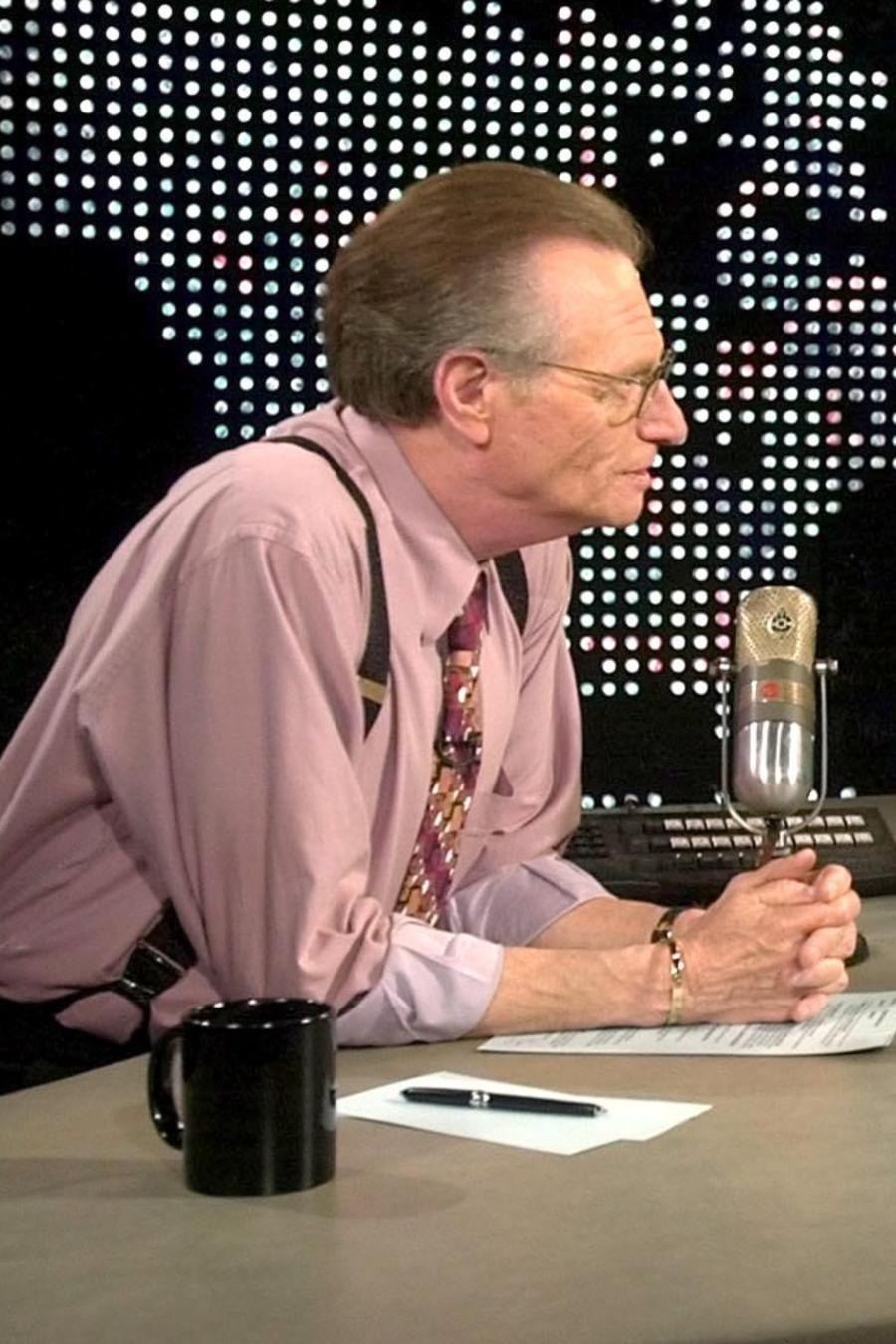 Larry King y George W. Bush