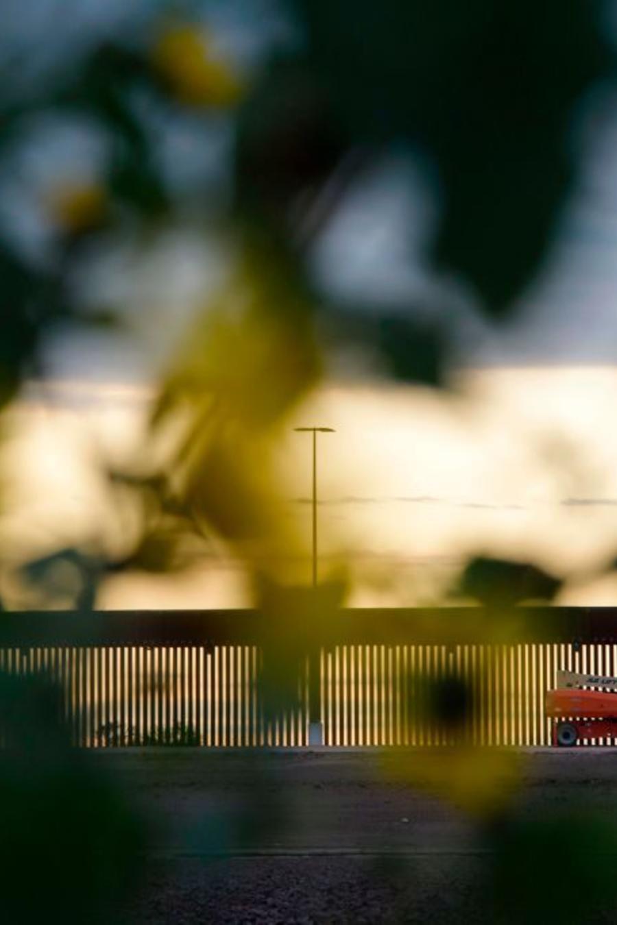 Una sección del muro fronterizo recién construido en Hidalgo, Texas.