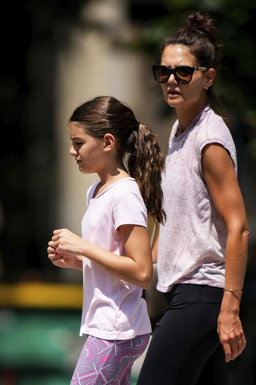 Tom Cruise, Katie Holmes y su hija, Suri Cruise
