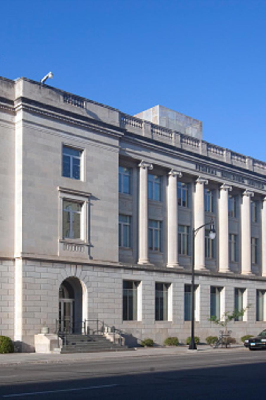 Exterior de la Corte Federal en Fargo, Dakota del Norte