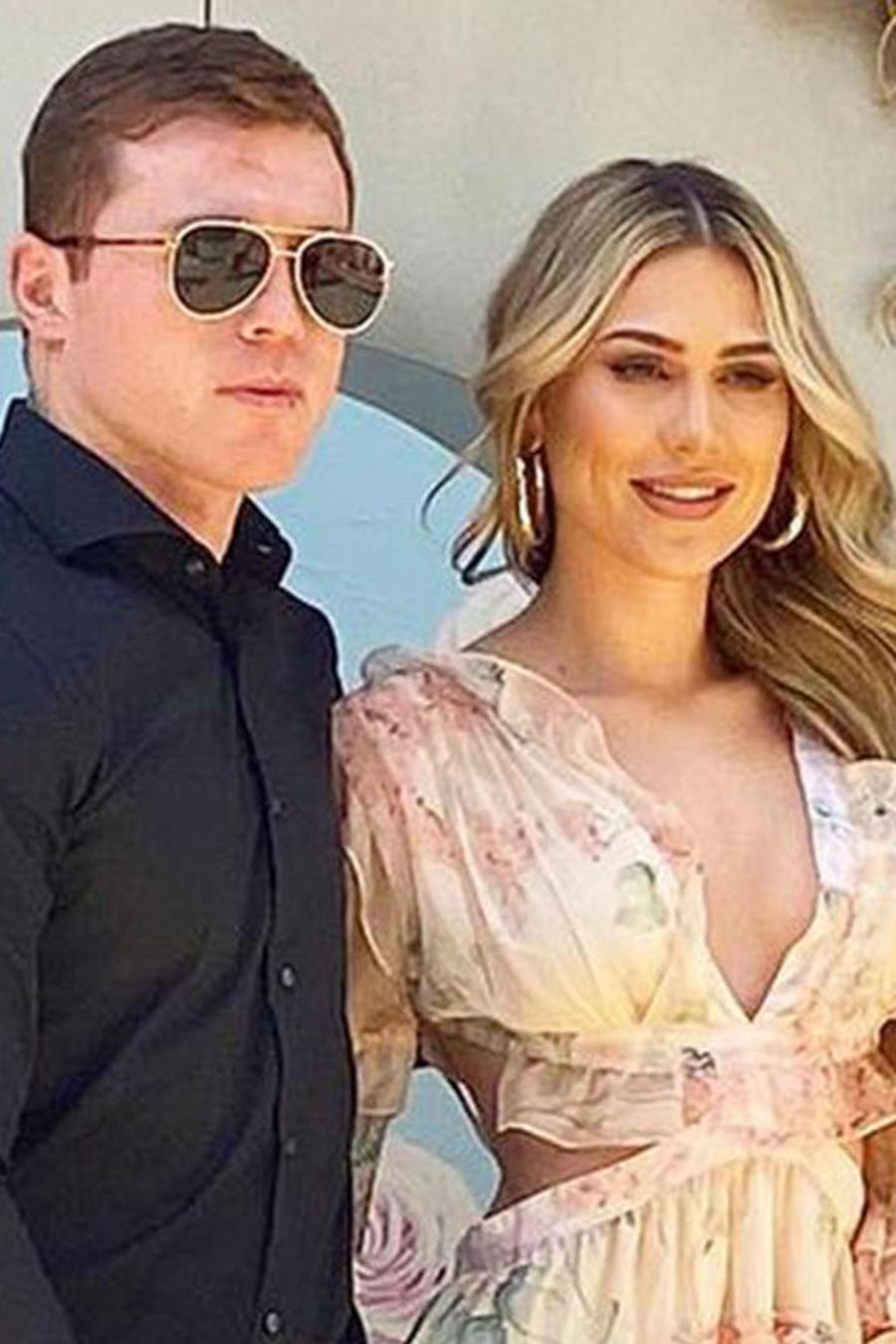 Saúl' Canelo' Álvarez y su novia, Fernanda Gómez.