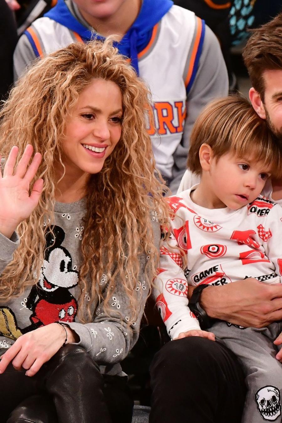 Shakira, Gerard Piqué y sus hijos Sasha y Milan