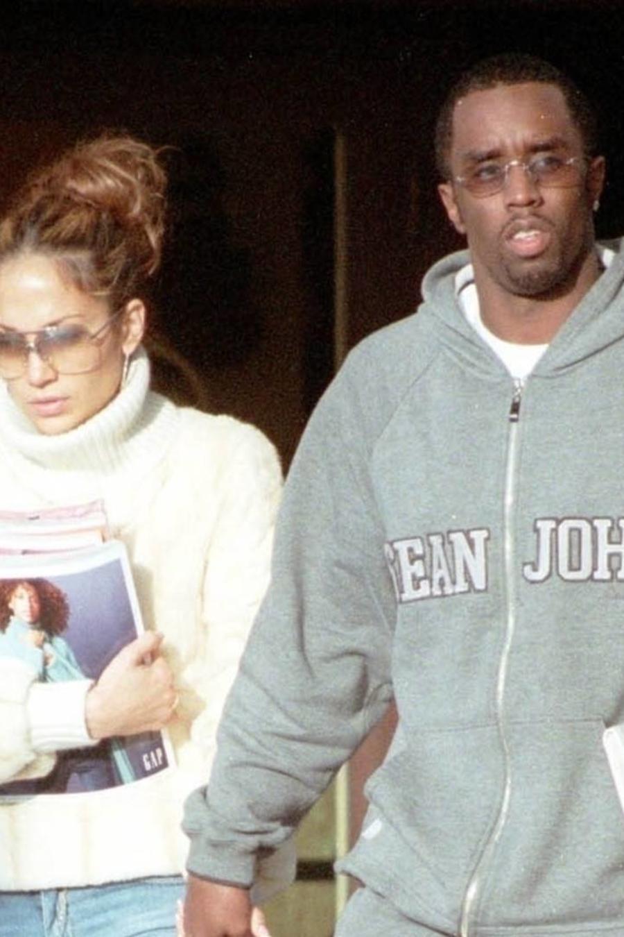 Jennifer Lopez y Sean Combs 'Diddy' en West Hollywood, diciembre 2000