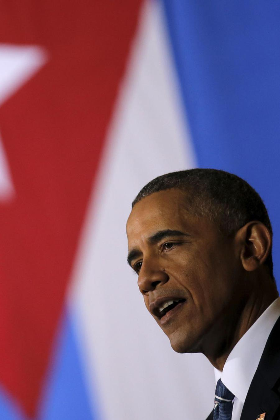 obama bandera cuba