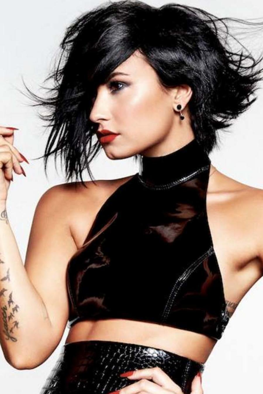 Demi Lovato posa para su álbum Confident