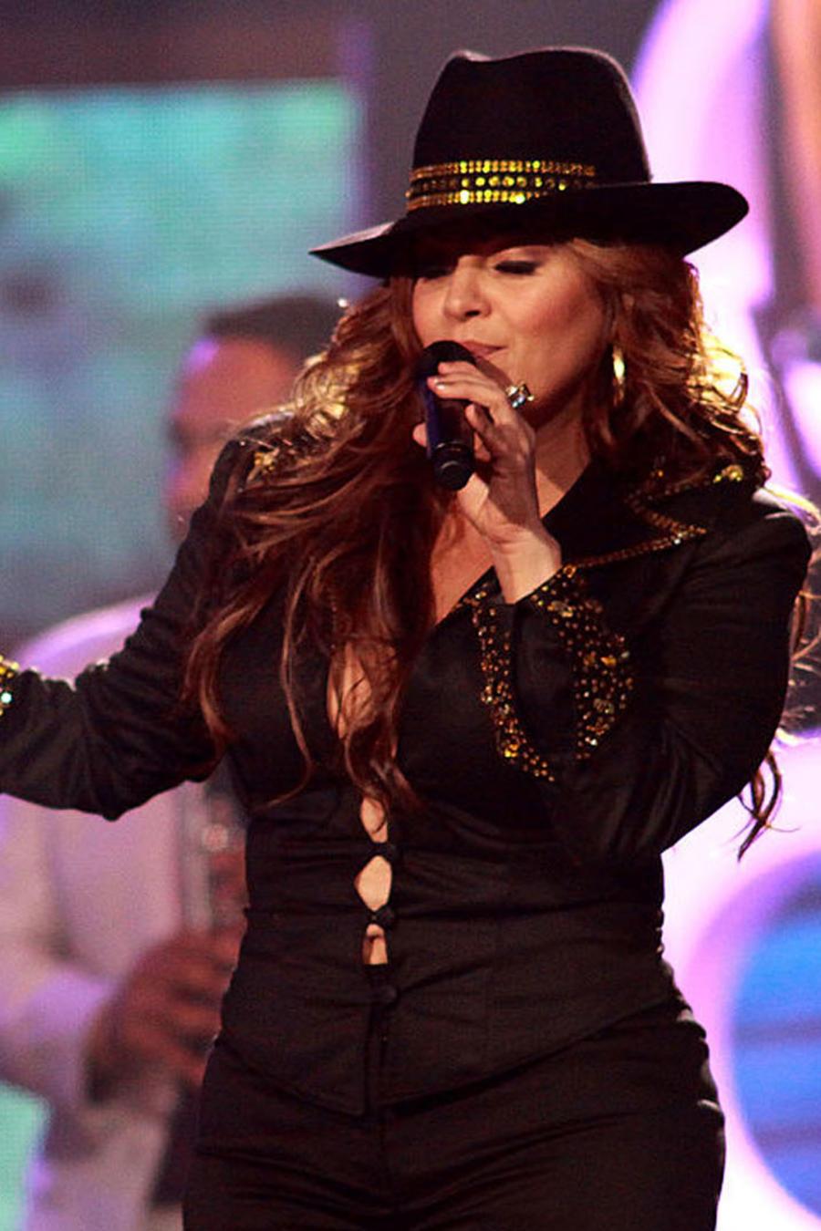 Jenni Rivera cantando en los Premios Billboard de la Música Latina 2009