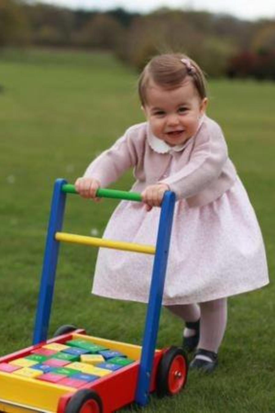 Foto de la princesa Charlotte difundida por su primer cumpleaños que es el 2 de Mayo del 2016