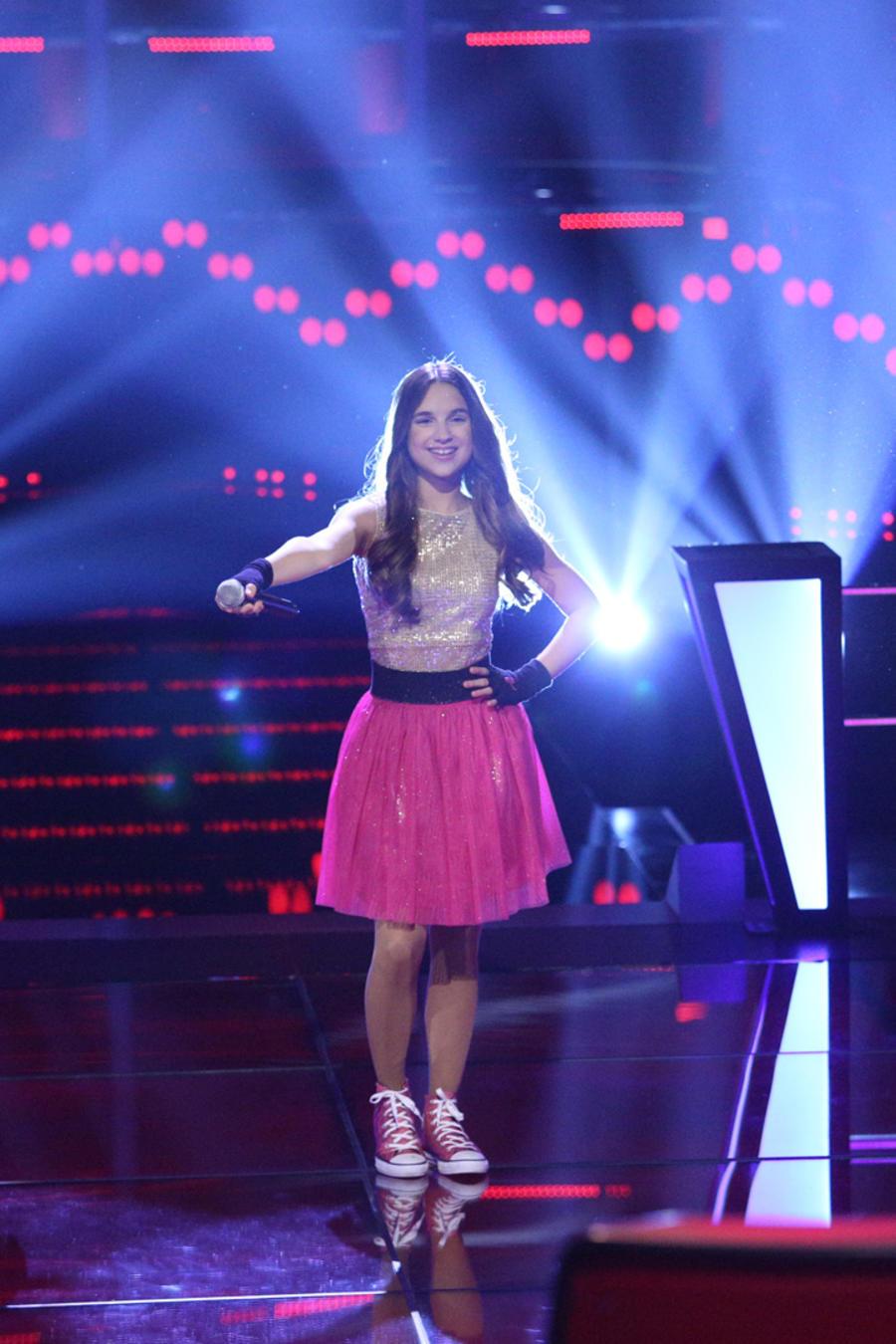 Valeria Cruz Valeria Jauregui Valeria Aviles en la tercera ronda de batallas de La Voz Kids