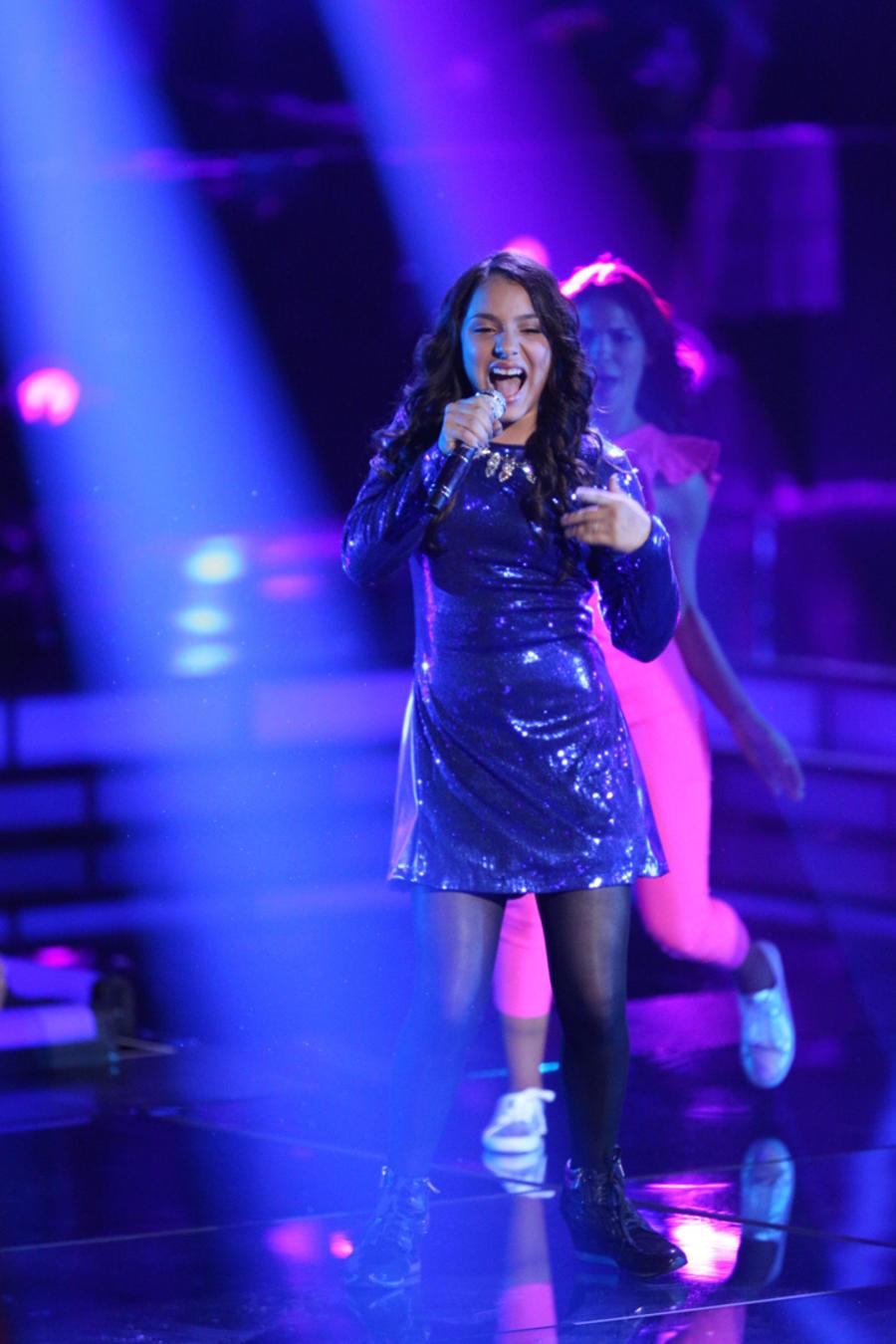 Ruth en la primera noche de la etapa final de La Voz Kids