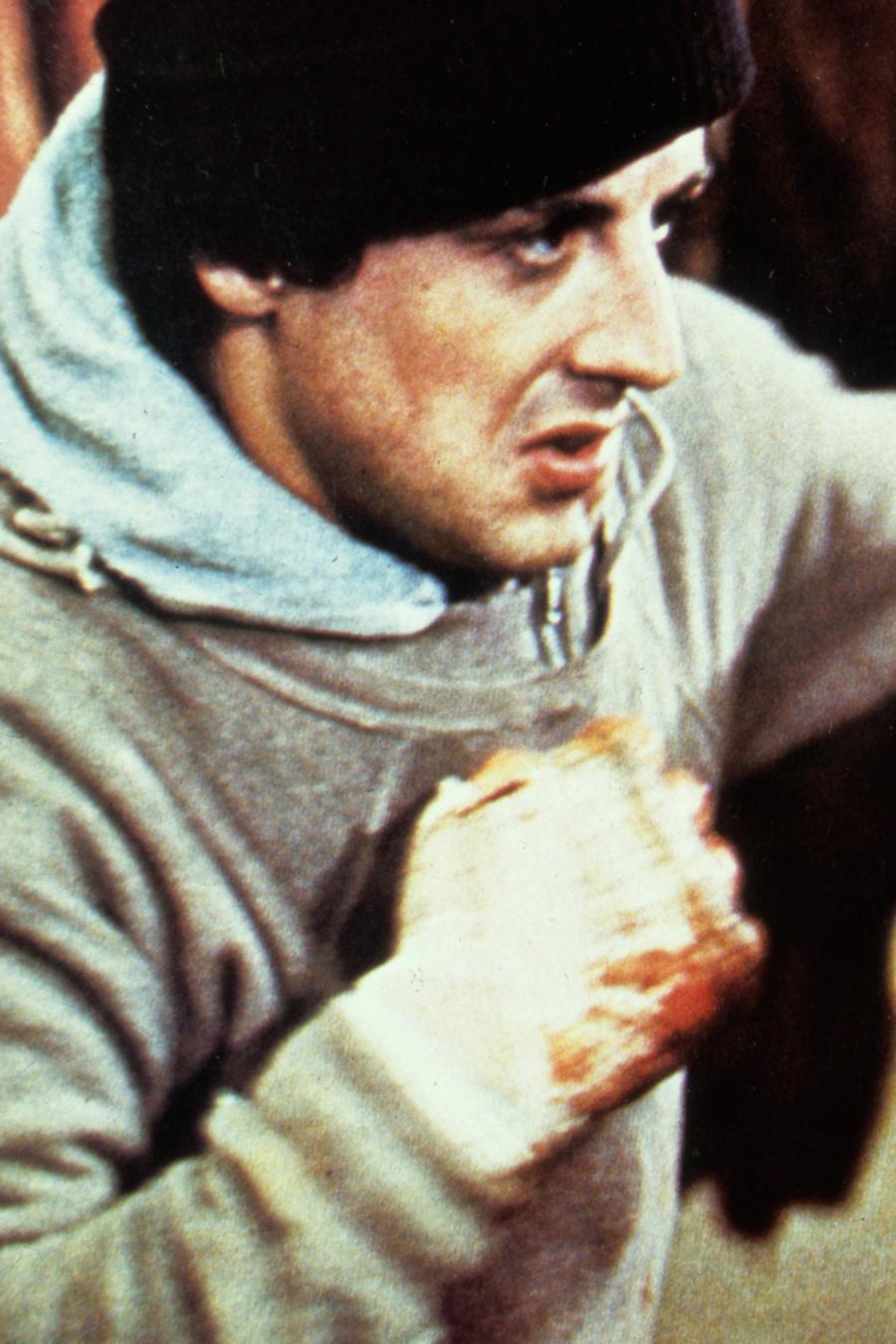 Sylvester Stallone en una escena de la película Rocky
