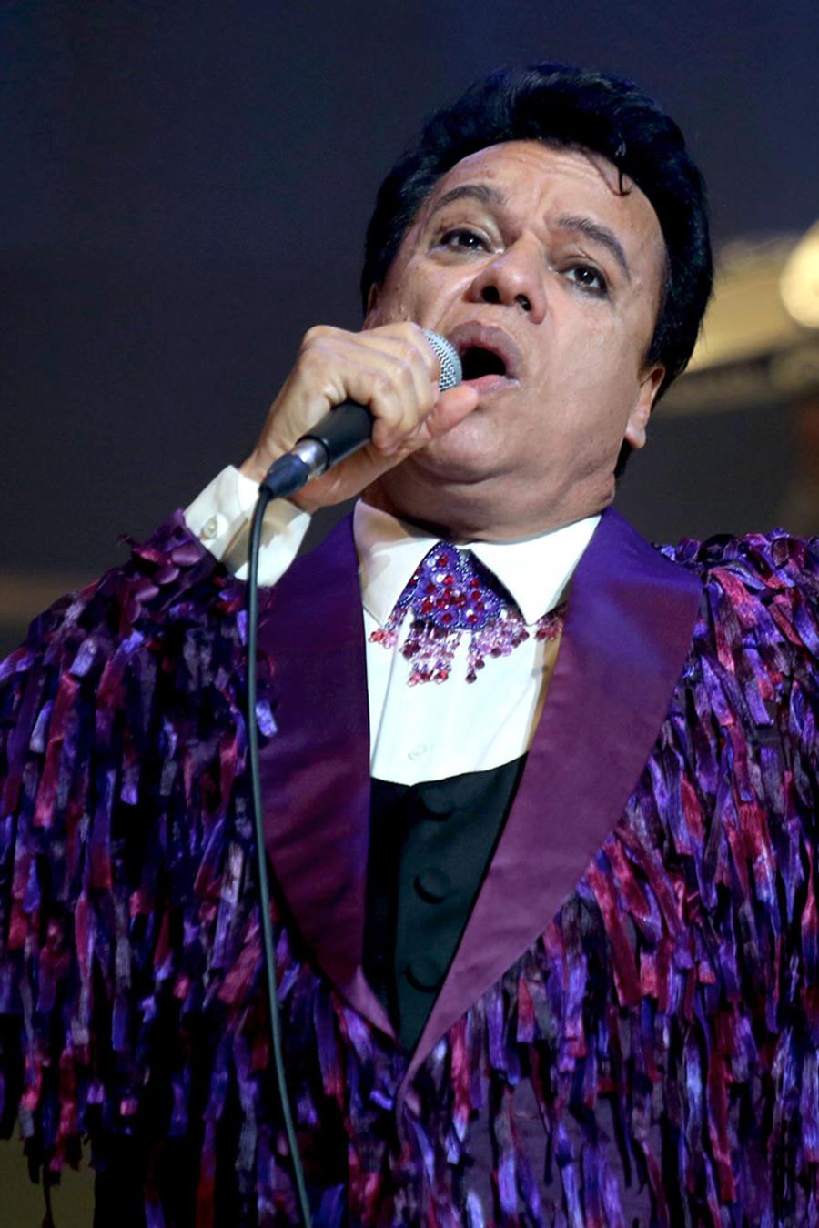 Juan Gabriel en el Nokia Theatre en los Los Ángeles.