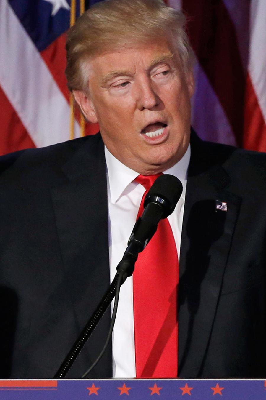 Donald Trump en Manhattan tras ganar las elecciones en EEUU