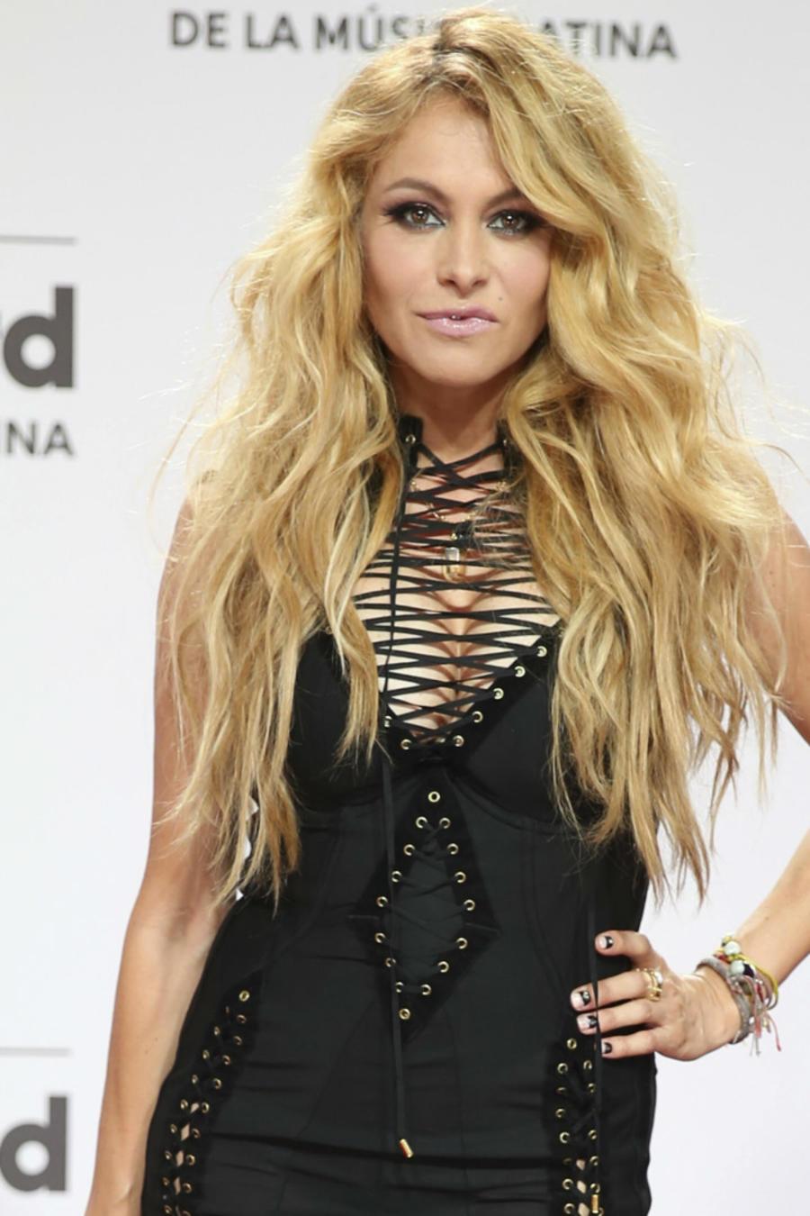 Paulina Rubio en la alfombra roja de los Billboard Latin Music Awards en Miami, 2016.